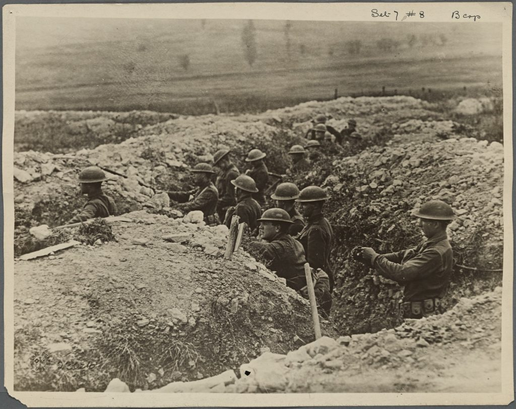 """World War I trench """"From The New York Public Library"""""""