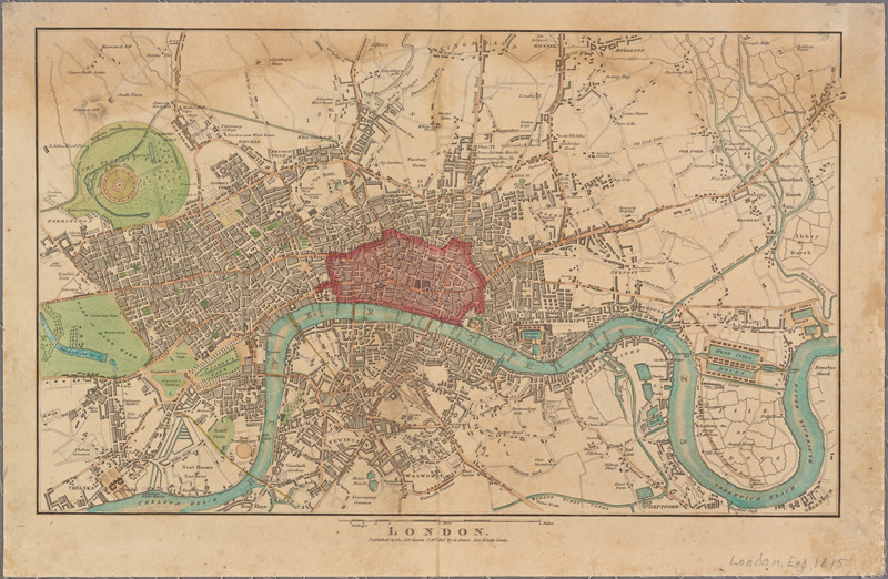 """Early map of London """"From The New York Public Library"""""""
