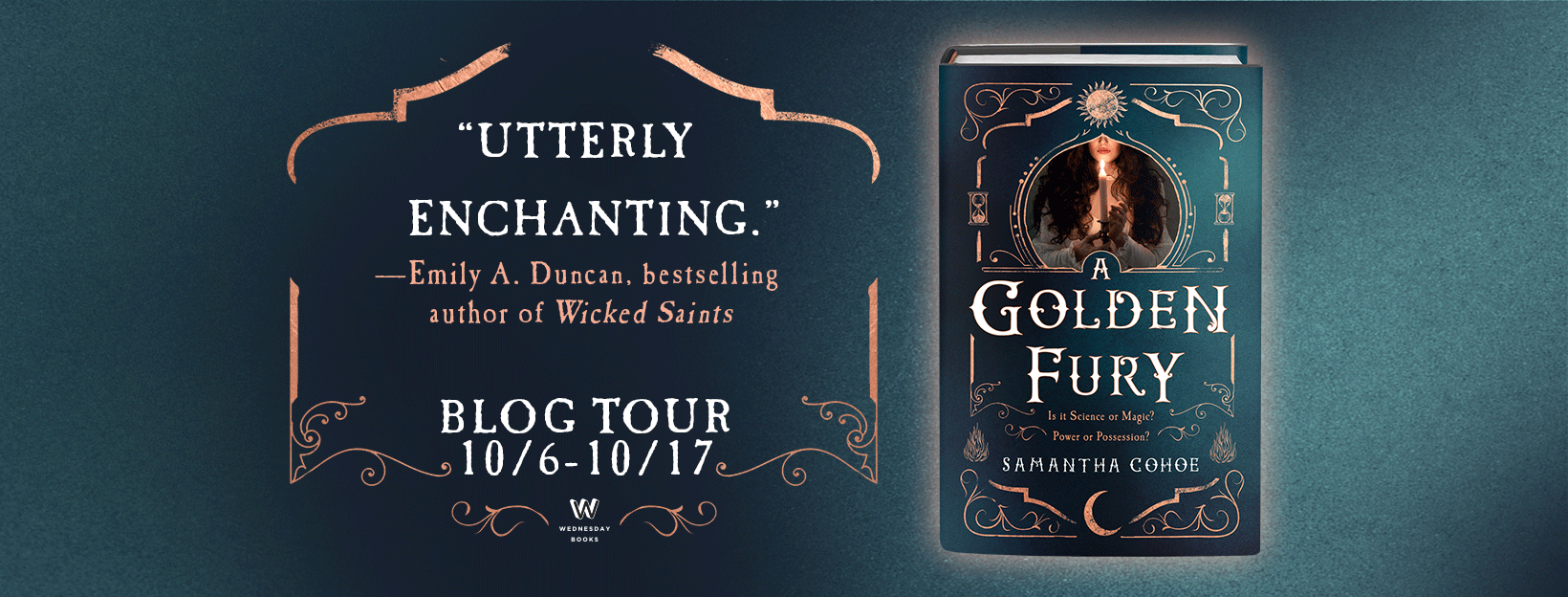 Blog Tour / / A Golden Fury by Samantha Cohoe //